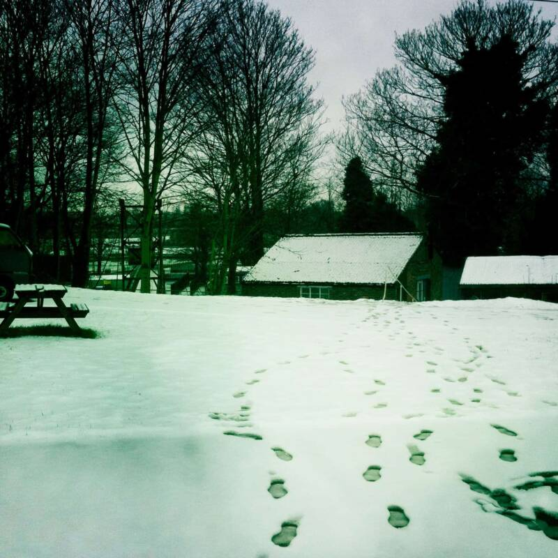 Snow at Panicbutton - Recording and Rehearsal Studio Hampton London
